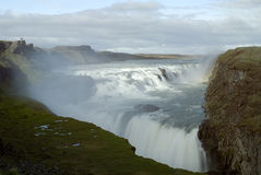Gulfoss Waterfalls Stock Photo