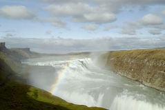 Gulfoss Waterfalls Stock Photography