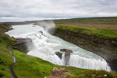 Gulfossdalingen van IJsland stock afbeeldingen
