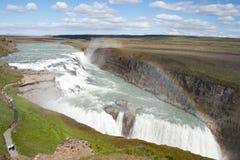gulfossiceland vattenfall Royaltyfria Foton