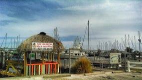 Gulfport小游艇船坞 库存图片