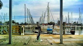 Gulfport Marina Sceniczny Obrazy Royalty Free