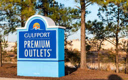 GULFPORT, MISSISSIPPI - FEBRUARY 2016: Premium Outlets Mall entr. Ance. Premium Outlets Mall is a prime destination for tourists visiting Mississippi Stock Photo