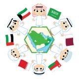 Gulfstaternas samarbetsråd stock illustrationer