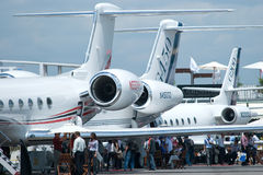 Gulfstream business jets at Singapore Airshow Stock Photo