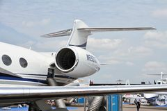 Gulfstream G650 empennage arkivbild