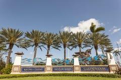 Gulfstream park w Hallandale plaży, Floryda zdjęcie stock