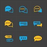 gulgocze ikony kolorową mowę Fotografia Stock