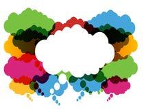 gulgocze kolorową mowę Ilustracji