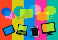 gulgocze komputeru różną ikon mowę ilustracji
