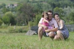 gulgocze rodziny bawić się Zdjęcie Royalty Free
