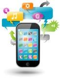 gulgocze smartphone mowę ilustracji
