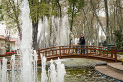 Gulhane公园在伊斯坦布尔,土耳其 库存照片