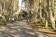 Gulhane,伊斯坦布尔公园  免版税库存图片
