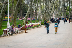 Gulhane park in Istanbul, Turkey Stock Photos