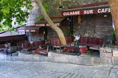 Gulhane sur (muur) koffie Istanboel stock afbeeldingen