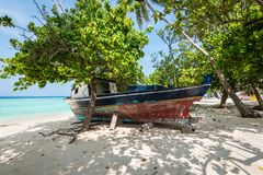 Gulhi ö, Maldiverna Royaltyfri Foto