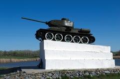 GULIAI-BORISOVKA,俄罗斯- 2017年4月, 27日:坦克T-34 免版税库存照片