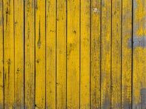 Guling färgad gammal wood plankatexturbakgrund Arkivbild