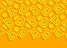 Guling och orange geometrisk pappersabstrakt begreppbakgrund Arkivbild