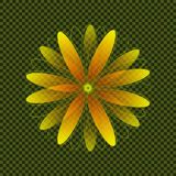 Guling och orange geometriska Daisy Shape Royaltyfri Foto