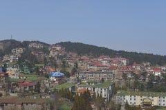 Guling stad på det Lushan berget Arkivbilder