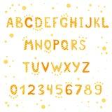 Gulingband och prickigt alfabet och diagram Arkivbilder
