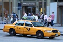 Gulingen taxar i New York City Royaltyfri Bild