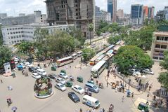 Gulistan is a very busy street of dhaka city. Royalty Free Stock Photography