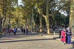 Gulkhane ogródy, Istanbuł zdjęcia royalty free