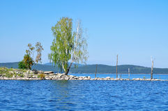 Gull Island on Lake Turgoyak, Southern Urals Royalty Free Stock Images