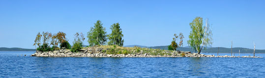 Gull Island on Lake Turgoyak, Southern Urals Stock Photos