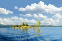 Gull Island on Lake Turgoyak, Southern Urals Royalty Free Stock Photos