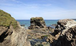 Gull Rock, Porth Beach, Newquay, Cornwall Royalty Free Stock Images