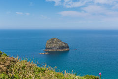 Gull Rock Trebarwith Strand Cornwall near Tintagel Royalty Free Stock Image
