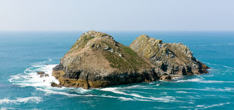 Gull Rocks Holywell Bay North Cornwall England United Kingdom near Newquay Stock Photography