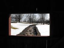 Gulley del invierno Foto de archivo libre de regalías
