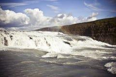 gullfoss冰岛瀑布 免版税库存照片