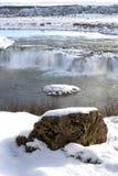 gullfoss冰岛瀑布 免版税图库摄影