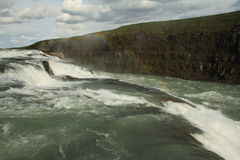 gullfoss冰岛瀑布 图库摄影
