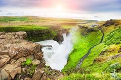 gullfoss冰岛瀑布 免版税库存图片