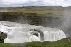 gullfoss冰岛 免版税库存图片