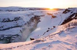 gullfoss冰岛 库存图片