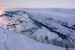 gullfoss冰岛 图库摄影