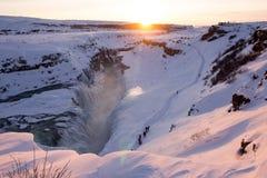 gullfoss冰岛 免版税库存照片
