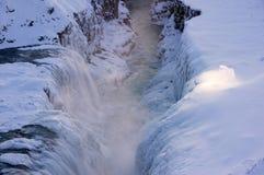 gullfoss冰岛 库存照片