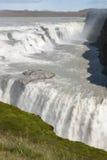 Gullfoss瀑布 库存照片
