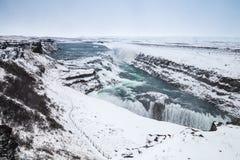 Gullfoss ή χρυσός καταρράκτης, Ισλανδία Στοκ Φωτογραφίες