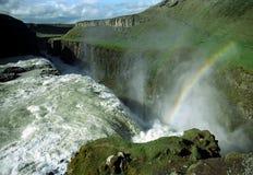 gullfoss Ισλανδία Στοκ Εικόνες
