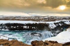 Gullfoss Ισλανδία Στοκ φωτογραφίες με δικαίωμα ελεύθερης χρήσης